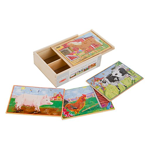 Carter's Wooden 12 Piece Jigsaw Puzzle (Pets)