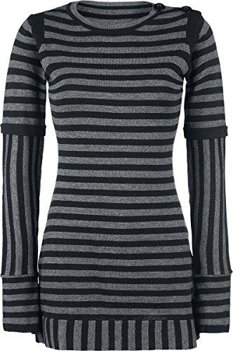 Pussy Deluxe Knit Stripe Dress Abito grigio/nero L