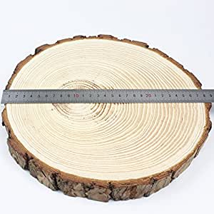 Goodlucky365 1pcs 9 5 12 unfinished natural for Wood circles for crafts
