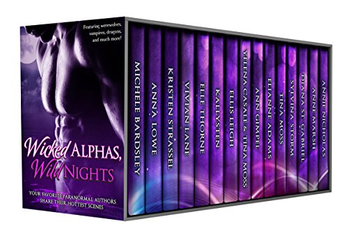 Sizzling samples of sensual scenes to help you discover new books from hot authors at a steal of a price!  Wicked Alphas, Wild Nights box set by award winning, New York Times, and USA Today bestselling authors at a sale price of .99 cents!