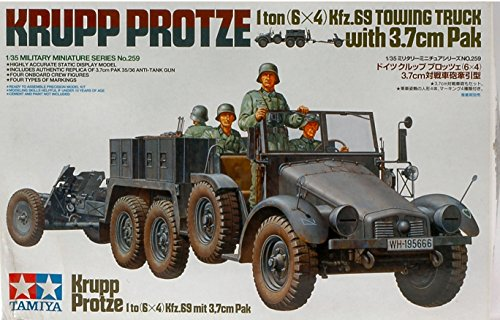KRUPP TOWING TRUCK W/TOWING KIT 1:35 Tamiya Kit Mezzi Militari modello modellino die cast