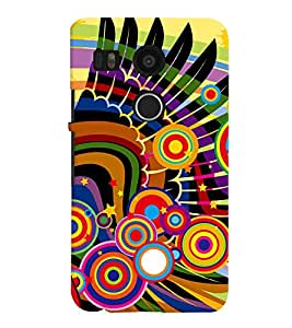 LG Google Nexus 6 MULTICOLOR PRINTED BACK COVER FROM GADGET LOOKS