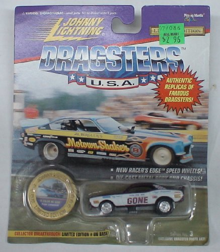 Johnny Lightning Dragsters Die Cast Car Roger Lindamood Color Me Gone - 1