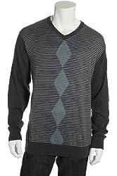 Spring + Mercer Mens L/S V-Neck Sweater Shirt