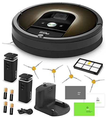 Best Buy! iRobot Roomba 980 Vacuum Cleaning Robot + 2 Dual Mode Virtual Wall Barriers (With Batterie...