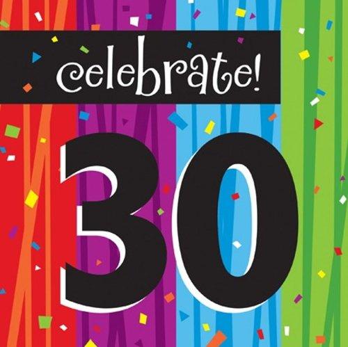 Creative Converting Milestone Celebrations Luncheon Napkins, 16-Count, Celebrate 30 - 1