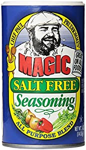 Chef Paul Prudhomme's Magic Seasoning Blends ~ Magic Salt Free Seasoning, 5-Ounce Canister
