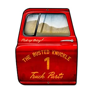 Busted Knuckle Garage Vintage Metal Sign Truck Parts Shop 15 X 19 Not Tin
