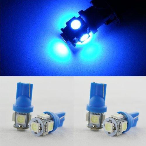 Hkbayi 4Pcs / 2Pair / 4X T10 5Leds Car Lights Smd 5050 Input Led 12V Light Blue Car Lights Turn Signal Light Backup Lights