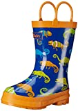 Hatley Rainboots -Crazy Chameleons, Boys' Rain Boots, Multicolor (Blue), 9 Child UK (27 EU)