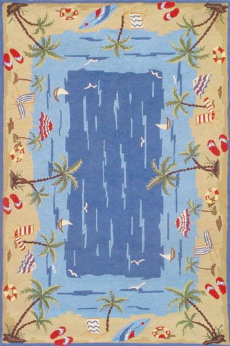 Vacation Blue DuraCord Outdoor Rug (size 8x10)