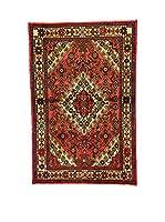 L'Eden del Tappeto Alfombra Hamadan Rojo / Multicolor 146  x  96 cm