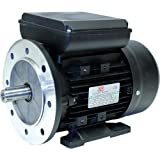 TEC 1.1KW Electric Motor, Three Phase, 1.1/2HP (Horse Power), Flange Mounted (B14), 1000 RPM (6 Pole), 90L Frame Size, Aluminium body, IE2.