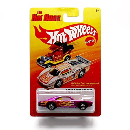 LARGE AND IN CHARGER * The Hot Ones * 2011 Release of the 80's Classic Series - 1:64 Scale Throw Back HOT WHEELS Die-Cast Vehicle