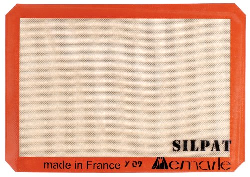 HIC Brands that Cook Silpat Non-Stick Silicone Jelly Roll Pan Baking Mat, 14-1/2-Inch by 10-Inch