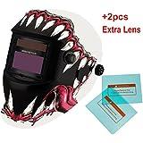 iMeshbean® Pro Cool Solar Auto-Darkening Welding & Grinding Helmet + 2 pcs Extra Lens Covers ANSI Certified Model#1034 USA