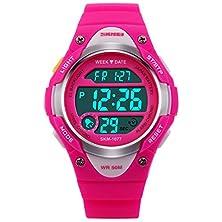 buy Panegy Children'S Japanese Quartz Analog-Digital Rubber Band Sports Watch - Rose Red