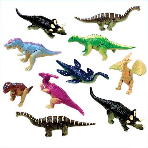 Lot Of 12 Assorted Moveable Posable Dinosaur Action Figures