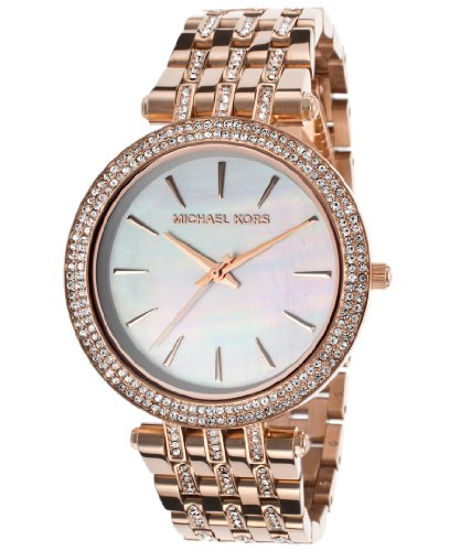 Michael Kors Darci Mother Of Pearl Dial Crystal Ladies Watch Mk3220