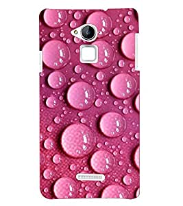 Printvisa Premium Back Cover Pink Water Droplets Pattern Design For Coolpad Note 3