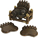River's Edge Bear Paw Coaster Set