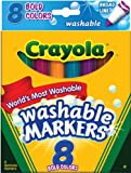 Crayola Washable Markers, Broad Line Assorted Colors 8-Count