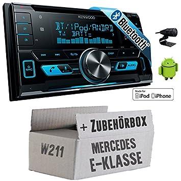 Mercedes E-Klasse W211 - Kenwood DPX-X5000BT - 2DIN Bluetooth USB Autoradio - Einbauset