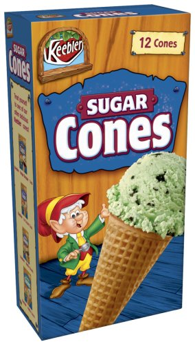 Buy Keebler Ice Cream Sugar Cones, 12-Count Boxes (Pack of 6) (Keebler, Health & Personal Care, Products, Food & Snacks, Snacks Cookies & Candy, Snack Food)