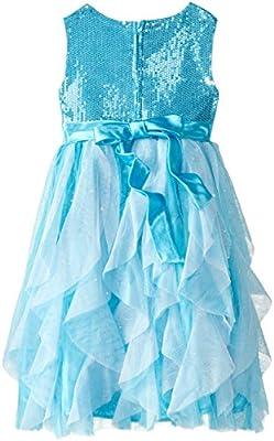 Disney Girls' Frozen Queen Elsa Role Play Dress with Matching Tiara