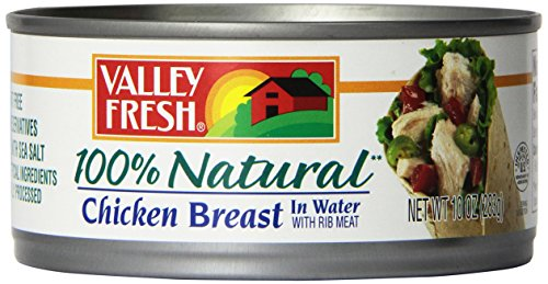 Valley Fresh Chicken Breast in Water with Rib Meat, 10-Ounce (Pack of 6) (Chicken In A Ca compare prices)