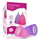 Dutchess Menstrual Cups Set of 2 with Free Bag - Best Feminine Alternative Protection to Cloth Sanitary Napkins - Post Childbirth Size