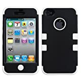 Product B008DJH5OY - Product title MYBAT IPHONE4AVHPCTUFFSO003NP Premium TUFF Case for iPhone 4 - 1 Pack - Retail Packaging - Black/Solid White