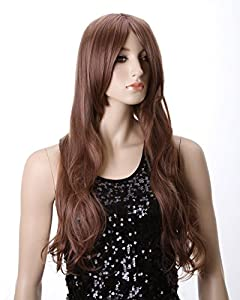 Cool2day® Western Women's Charming Long Curly Wig+wig Cap (Model: Jf010485) (Light Brown)