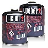 2x Weber Gas Kartusche 26100 für Q 100 Serie und Performer Touch-N-Go