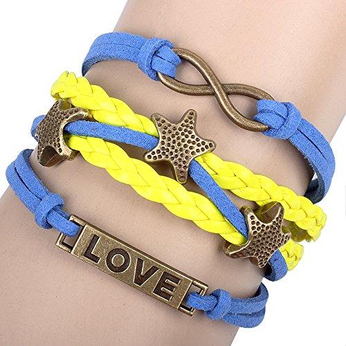 Winter's Secret Love Identification Star Multi Strand Braided Figure Eight Lucky Bracelet (Tassimo Watch compare prices)