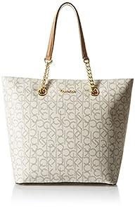 Calvin Klein Monogram Tote Bag, Almon…