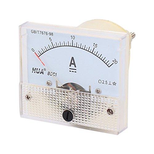 85c1 Pointer Nadel 0-20A Stromtester-Panel Analog Ammeter 56mm x 64mm