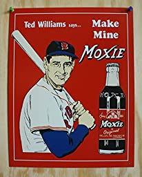 Ted Williams Tin Metal Sign : Make Mine Moxie