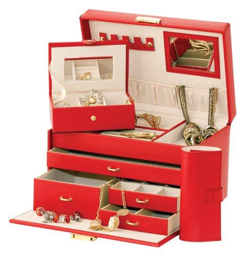 Rosso Duchess Rosso in pelle Custodia CD