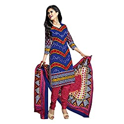 Buy traditional work designer in Unstitched cotton Chudidhar