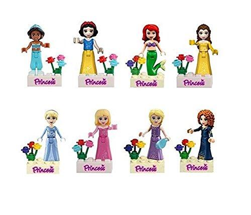 Mingyaa 8 pcs Girls Friends & princess series Minifigures Action Figures Building Block Toy& DIY bricks baby toy