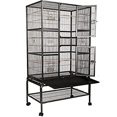FDS Parrot Cage Bird Aviary Flight Breeding Cage w/Stand
