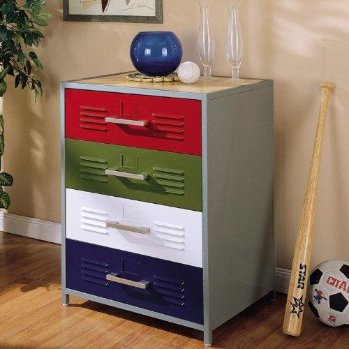 Cheap Powell 517-008 Teen Trends Primary Drawer Kids Dresser (517-008)