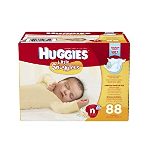 Huggies Little Snugglers Diapers, Newborn, 88 Count
