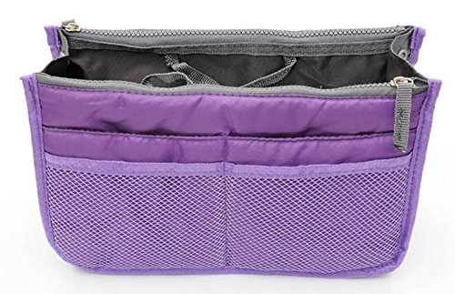 TheWin Organizer portaoggetti Borsa per cosmetici, Purple rectangle, 1x