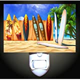 Surfboards on the Beach Decorative Night Light