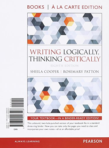 critical thinking reading and writing 8th edition barnett Developing critical thinking skills integrated reading & writing model 8th edition raymond a barnett, merritt college.
