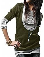 DJT Womens Long Sleeve Top Jumper Hoodie Jacket Sweatshirt Size S-3XL Simple Casual Style Shirt