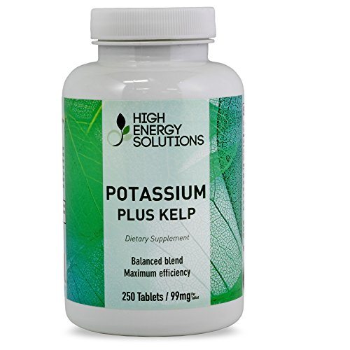 Potassium-Value-Sized-250-Tablets-99mg-Per-Tablet-Plus-Iodine-From-Kelp-150mcg-BY-High-Energy-Solutions-GMP-USA-100-Guarantee