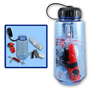 New 16in1 Survival Bottle Emergency Kit Whistle Compass